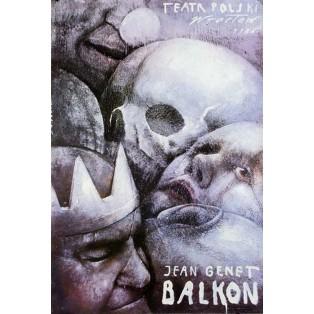 Balcony by Jean Genet Wiktor Sadowski Polish Theater Posters