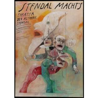 Stendal Macht´s Wiktor Sadowski Polish Theater Posters