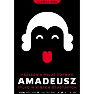 Amadeus Milos Forman Joanna Górska Jerzy Skakun Polish Film Posters
