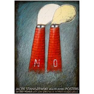 NO Jacek Staniszewski Jacek Staniszewski Polish Exhibition Posters