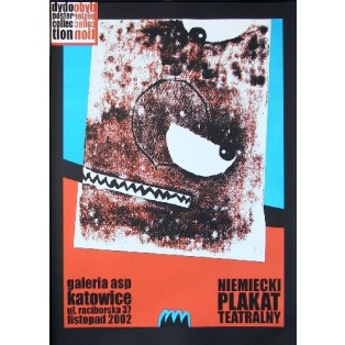 German Theater Poster Monika Starowicz Polish Exhibition Posters