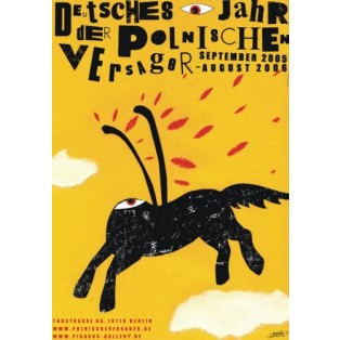 Polish Looser German Year 2005-2006 Monika Starowicz Polish Poster Art Advertising Tourism Travels Political Sport Judaica Posters
