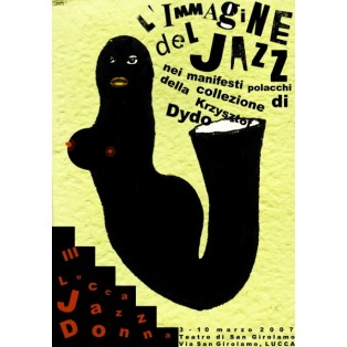 L Immagine del Jazz Monika Starowicz Polish Exhibition Posters