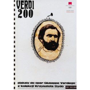Verdi 200 Opera poster Monika Starowicz Polish Opera Posters