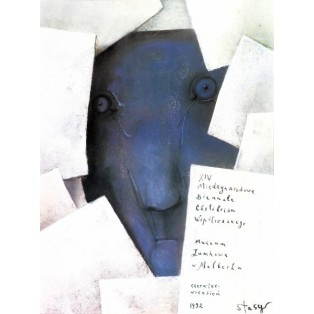 Biennale of Contemporary Exlibris - 14th Stasys Eidrigevicius Polish Exhibition Posters
