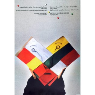 Days of Culture of Lithuania Stasys Eidrigevicius Polish Poster Art Advertising Tourism Travels Political Sport Judaica Posters