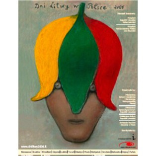 Lithuania Days in Poland Stasys Eidrigevicius Polish Poster Art Advertising Tourism Travels Political Sport Judaica Posters