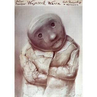 Uncle Wania Powszechny Theatre Warszawa Stasys Eidrigevicius Polish Theater Posters
