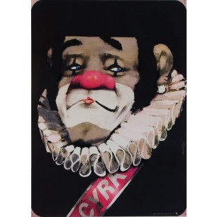 Circus Clown with flange Waldemar Świerzy Polish Circus Posters