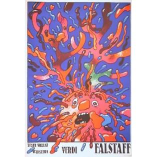 Falstaff Waldemar Świerzy Polish Opera Posters