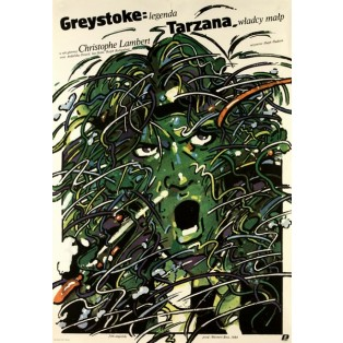 Greystoke: The Legend of Tarzan, Lord of the Apes Waldemar Świerzy Polish Film Posters