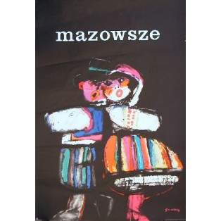 Mazowsze Folk ansamble Waldemar Świerzy Polish Poster Art Advertising Tourism Travels Political Sport Judaica Posters