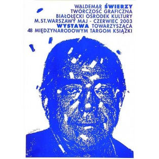 Graphic works blue Waldemar Świerzy Polish Exhibition Posters
