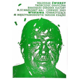 Graphic works green Waldemar Świerzy Polish Exhibition Posters