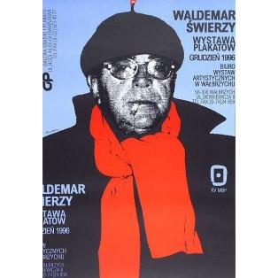 Waldemar Świerzy Poster exhibition BWA Wałbrzych 1996 Waldemar Świerzy Polish Exhibition Posters