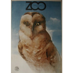 ZOO owl Waldemar Świerzy Polish Poster Art Advertising Tourism Travels Political Sport Judaica Posters