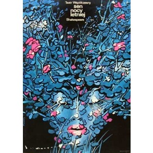Midsummer Night's Dream Waldemar Świerzy Polish Theater Posters