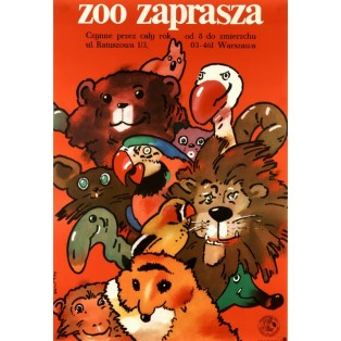 ZOO ivites You Waldemar Świerzy Polish Poster Art Advertising Tourism Travels Political Sport Judaica Posters