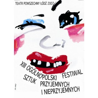Festival of Pleasant and Unpleasant Plays 13. Waldemar Świerzy Polish Theater Posters