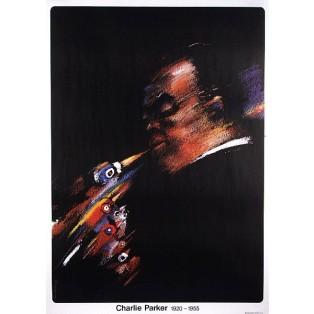 Charlie Parker Jazz Greats Waldemar Świerzy Polish Music Posters