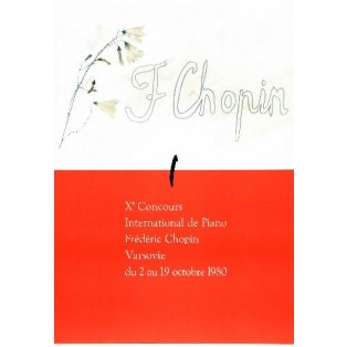 Chopin Piano Competition, 10th Henryk Tomaszewski Polish Music Posters