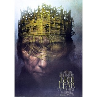 King Lear Wiesław Wałkuski Polish Theater Posters