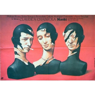 Masks Claude Chabrol Wiesław Wałkuski Polish Film Posters