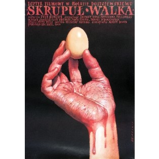 Skrupul, Walka Yves Goulais Wiesław Wałkuski Polish Film Posters