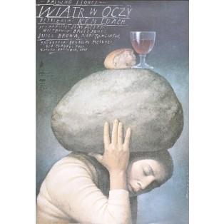 Raining stones Ken Loach Wiesław Wałkuski Polish Film Posters