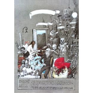 Seven Deadly Sins, Brecht, Weill Janusz Wiśniewski Polish Theater Posters