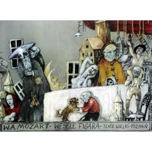 Marriage of Figaro Le nozze di Figaro Janusz Wiśniewski Polish Opera Posters