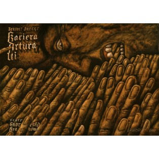 Resistible Rise of Arturo Ui Leszek Wiśniewski Polish Theater Posters