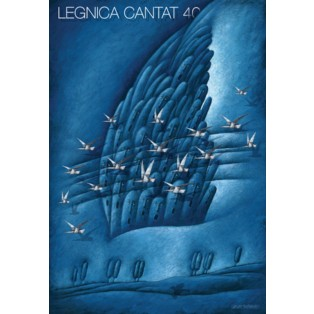 Legnica Cantat 40 Leszek Wiśniewski Polish Poster Art Advertising Tourism Travels Political Sport Judaica Posters
