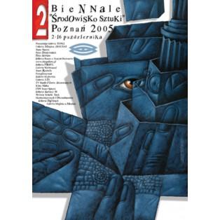 Biennale. Art society Poznań Leszek Wiśniewski Polish Exhibition Posters