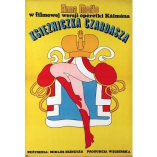 Csardas Princess Miklos Szinetar Maciej Żbikowski Polish Film Posters