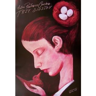Three Sisters Leszek Żebrowski Polish Theater Posters