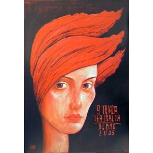 9th Theater Festival Leszek Żebrowski Polish Theater Posters