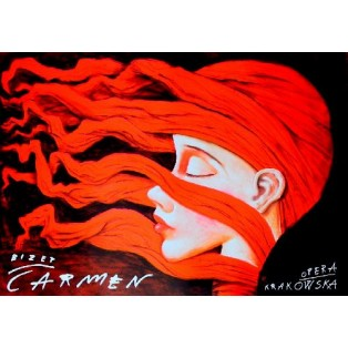 Carmen Georges Bizet Leszek Żebrowski Polish Opera Posters