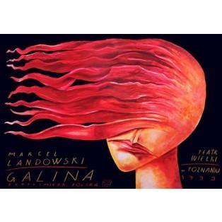Galina Leszek Żebrowski Polish Opera Posters