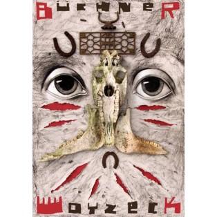 Woyzeck - Buechner Leszek Żebrowski Polish Theater Posters