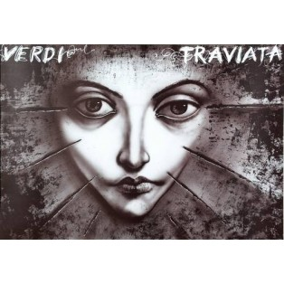 Traviata - Verdi Leszek Żebrowski Polish Opera Posters