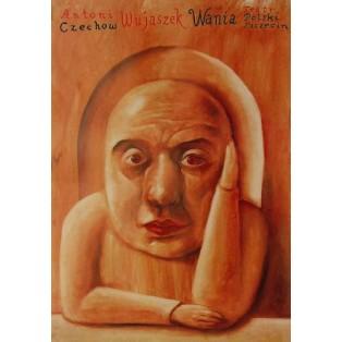 Uncle Vania Leszek Żebrowski Polish Theater Posters