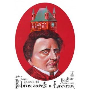 Podwieczorek u Łazarza Leszek Żebrowski Polish Theater Posters