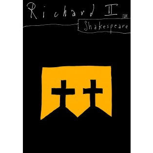 Tragedy of King Richard the Second William Shakespeare Leszek Żebrowski Polish Theater Posters