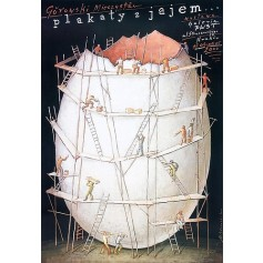 Poster with egg