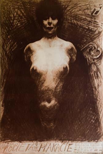 Frau im Plakat