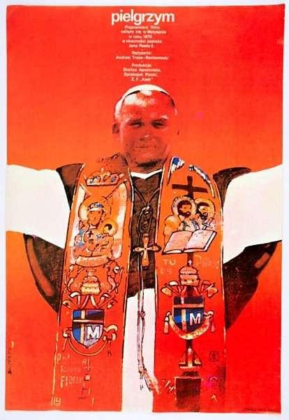 Waldemar Swierzy Pielgrzym Polish Poster
