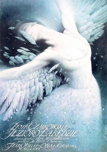 Wiesław Wałkuski Swan lake Polish Poster