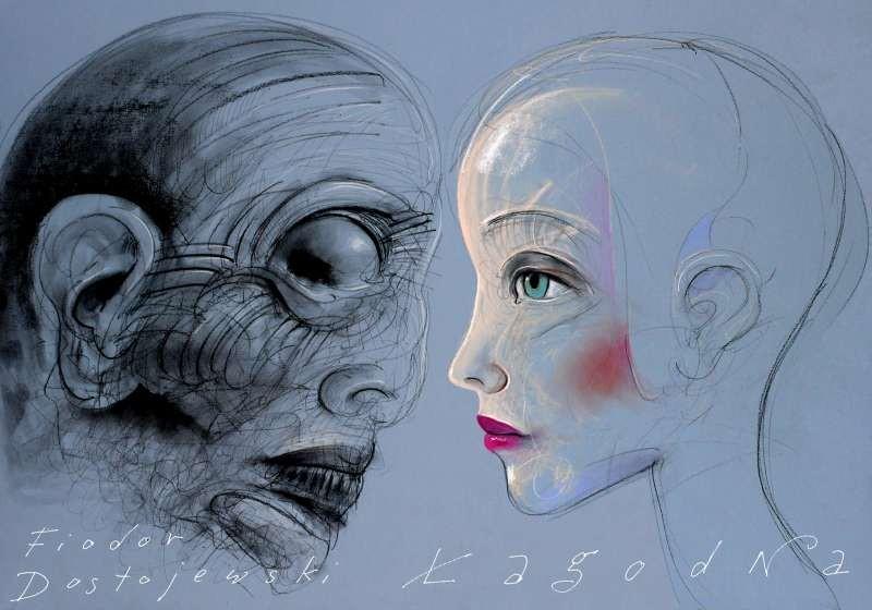 Lagodna Fiodor Dostojewski Leszek Zebrowski Polish poster