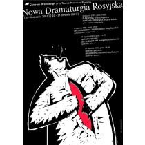 Neue russische Dramaturgie Mirosław Adamczyk Polnische Plakate